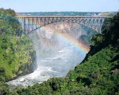 Livingstone is Zambia's gateway to the magnificent Victoria Falls, considered to be one of the seven natural wonders of the world