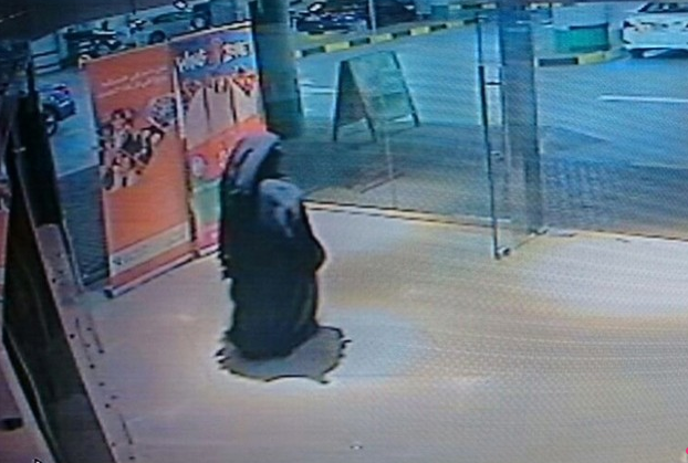 Fear: Since this CCTV footage of the Reem Island Ghost was released, many women who don the traditional abaya and face veil are reporting increased distrust when they go out. Pic credit: The National