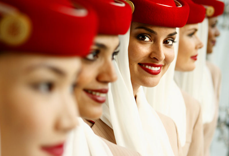 Emirates red: Recurrent image and uniform training helps create the desired look
