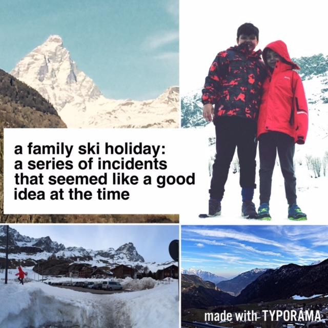 Definition of a family ski holiday